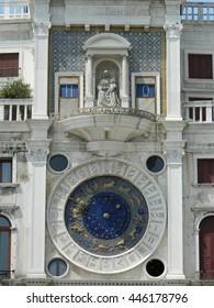 Zodiac clock on piazza San Marco, Venice, Italy