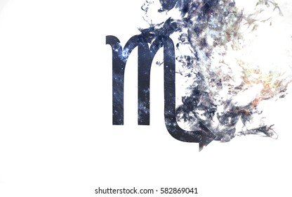 Zodiac sign - Scorpio. Dust of the universe, minimalistic art. Elements of this image furnished by NASA