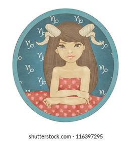 Zodiac signs collection. Capricorn