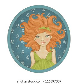 Zodiac signs collection. Leo