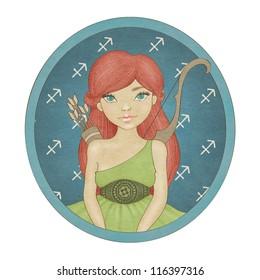 Zodiac signs collection. Sagittarius