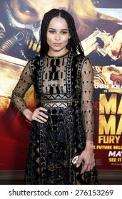 Zoe Kravitz at the Los Angeles premiere of 'Mad Max: Fury Road' held at the TCL Chinese Theatre IMAX in Hollywood, USA on May 7, 2015.