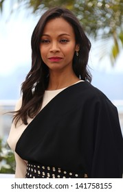 Zoe Saldana at the 66th Cannes Film Festival -Blood Ties - photocall Cannes, France. 20/05/2013