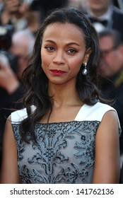 Zoe Saldana at the 66th Cannes Film Festival -Blood Ties - premiere Cannes, France. 20/05/2013