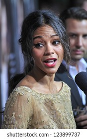 """Zoe Saldana at the Los Angeles premiere of """"The Words"""" at the Arclight Theatre, Hollywood. September 4, 2012  Los Angeles, CA Picture: Paul Smith"""