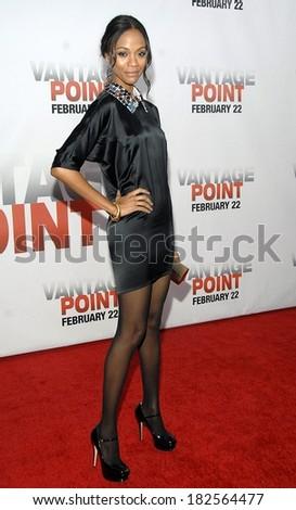 452250b636f Zoe Saldana Yves Saint Laurent Dress Stock Photo (Edit Now ...
