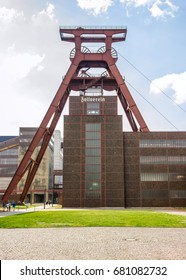ZOLLVEREIN, GERMANY - April, 2017: The Zollverein Coal Mine Industrial Complex is a industrial site in the city of Essen, North Rhine-Westphalia, Germany. It is on the UNESCO World Heritage Sites List