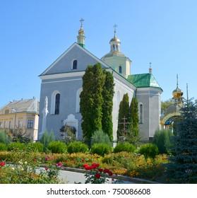ZOLOCHIV UKRAINE 09 14 17: Ascension Church, Zolochiv is a small city of district significance in Lviv Oblast of Ukraine, the administrative center of Zolochiv Raion.