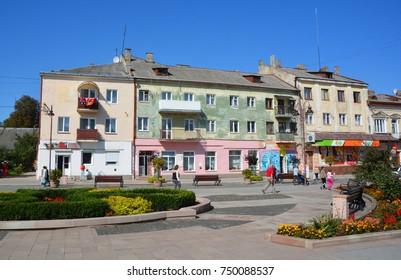 ZOLOCHIV UKRAINE 09 14 17: Zolochiv is a small city of district significance in Lviv Oblast of Ukraine, the administrative center of Zolochiv Raion.