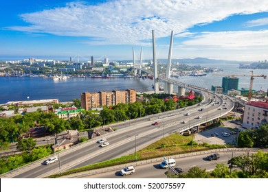 The Zolotoy Golden Bridge is cable-stayed bridge across the Zolotoy Rog (Golden Horn) in Vladivostok, Russia