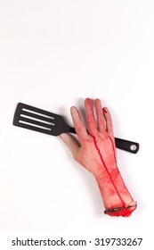 Zombie Hand with spatula ,flipper ,spade of frying pan