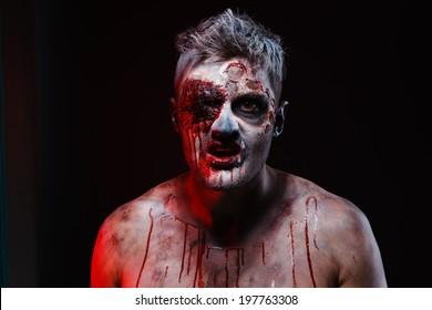 zombie, horror ,monster, blood, face