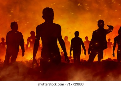 Zombies silhouette