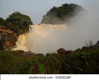 Zongo Waterfalls of the Congo River near Kinshasa. Democratic Republic of the Congo.