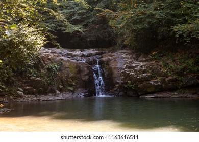 Zonguldak Eregli stone lake waterfall (Turkish Zonguldak eregli tas golu selalesi)