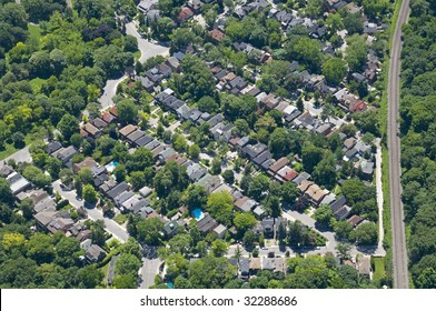 Zoning patterns found in contemporary North American towns and cities.