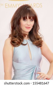 Zooey Deschanel at the 65th Primetime Emmy Awards at the Nokia Theatre, LA Live. September 22, 2013  Los Angeles, CA