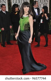 Zooey Deschanel at the 69th Golden Globe Awards at the Beverly Hilton Hotel. January 15, 2012  Beverly Hills, CA Picture: Paul Smith / Featureflash