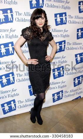 Zooey Deschanel Alliance Childrens Rights Dinner Stock Photo Edit