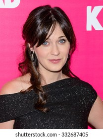 """Zooey Deschanel arrives at the premiere of """"Rock the Kasbah"""" in New York, New York on October 19th 2015"""