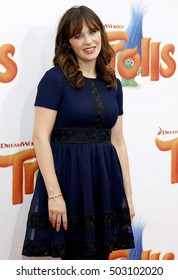 Zooey Deschanel at the Los Angeles premiere of 'Trolls' held at the Regency Village Theatre in Westwood, USA on October 23, 2016.