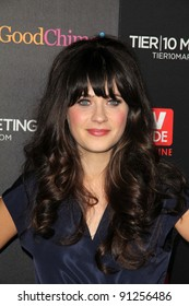 Zooey Deschanel at TV Guide Magazine's Annual Hot List Party, Greystone Mansion Supperclub, Beverly Hills, CA 11-07-11
