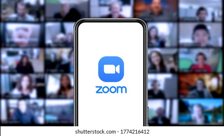 Zoom Video, also known as Zoom and Zoom App, is a virtual video call and meeting program, accessible from desktops, laptops, smartphones, and tablets. New York, USA. Saturday July 11, 2020