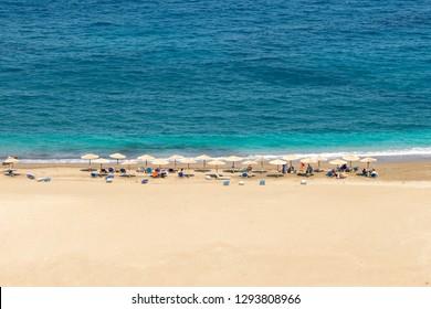 Zorgos beach at Andros island in Greece.