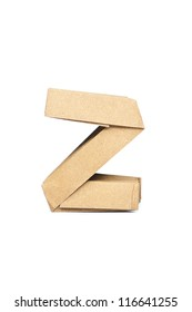 Z-Origami alphabet letters recycled paper craft fold.