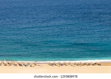 Zorkos beach at Andros island in Greece. A beautiful destination.