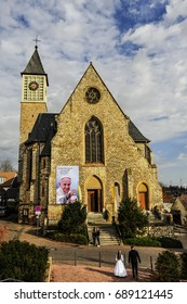 ZORNHEIM, GERMANY - APR 04: view of the church on April 04, 2016 in Zornheim, Germany.
