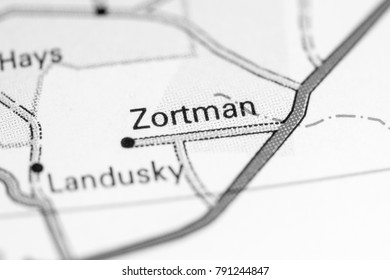 Zortman. Montana on a map.