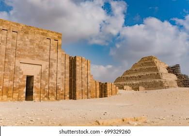Zoser step Pyramid at Saqqara - Egypt
