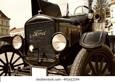 Zrenjanin ;Serbia ; 07.09.2016.Ford Model T from 1921 on exhibition of old cars ; Legendary Ford Model T