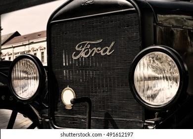 Zrenjanin ;Serbia ; 07.09.2016.Ford Model T from 1921 on exhibition of old cars ; The old Ford car