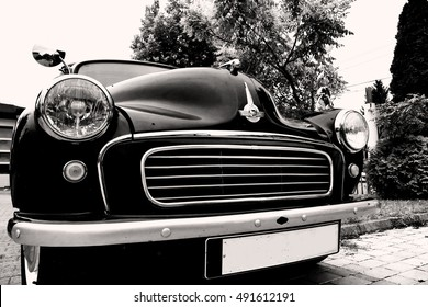 Zrenjanin ;Serbia; 10.09.2016.Morris Minor 1000 on exhibition of old cars; Morris Minor 1000