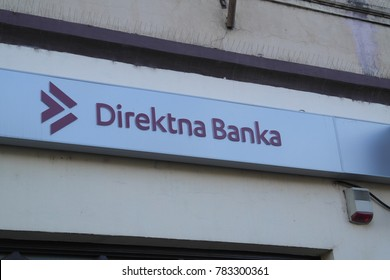 Zrenjanin, Serbia - December 27th, 2017: Branch of Direktna Banka (Direct Bank) - Headquarters of this bank is in Kragujevac, and bank has 35 branches across Serbia