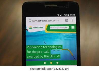 Zrenjanin, Serbia - March 3rd, 2019: Website of Petrobras displayed on a smartphone. This is a semi-public Brazilian multinational corporation in the petroleum industry from Rio de Janeiro, Brazil.