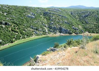 Zrmanja river, between Obrovac and Novigrad sea, Croatia