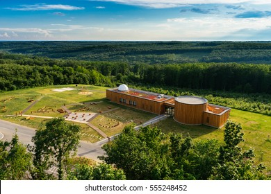 "Zselic, HUNGARY - 04 June, 2016: Aerial view of astral observatory of ""Zselici Csillagpark"" in Hungary"