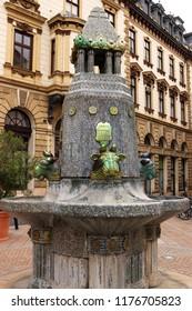 Zsolnay fountain Pecs Hungary