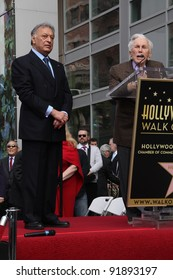 Zubin Mehta and Kirk Douglas at the Zubin Mehta Star on the Hollywood Walk of Fame, Hollywood, CA. 03-01-11