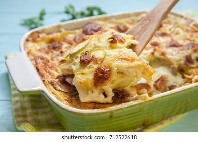 Zucchini casserole with cheese