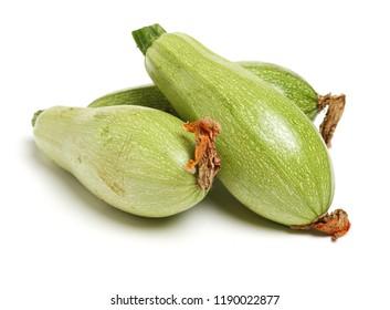zucchini courgette isolated on white background