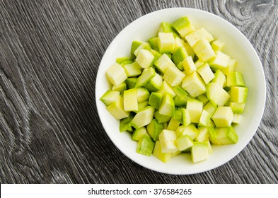 Zucchini, cut into cubes