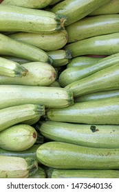 Zucchini. Fresh zucchini, green vegetables  courgette, summer squash. Organic green zucchini pattern. Vegetable background texture