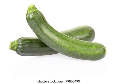 Zucchini isolated on white, clipping path included