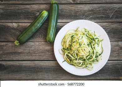 Zucchini Noodles on a Plate