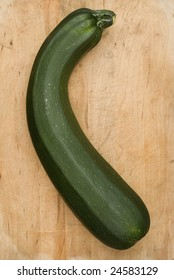 Zucchini on Cutting Board