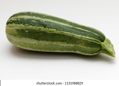 Zucchini on white